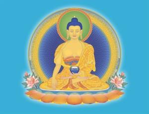 Buddha on blue