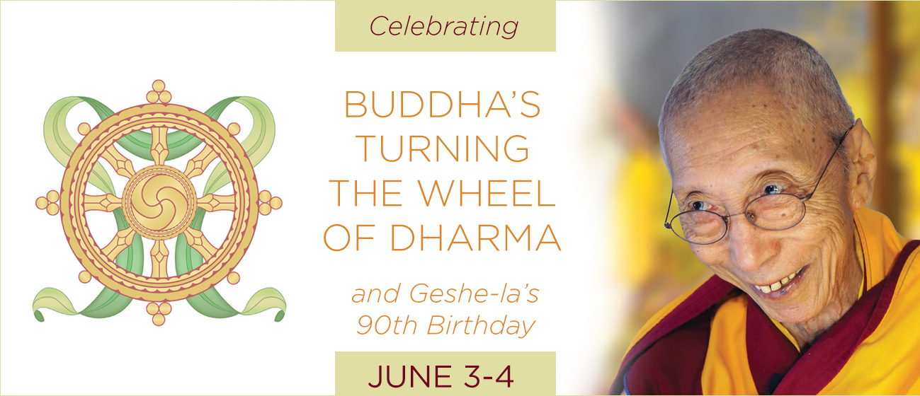 Buddha's Turning the Wheel of Dharma Day and Geshe-la's 90th Birthday @ online event